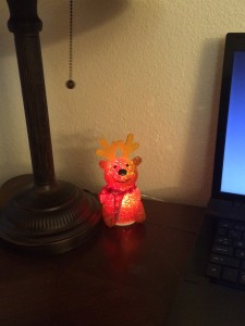 Color changing USB reindeer...When he's red, he looks a little evil.